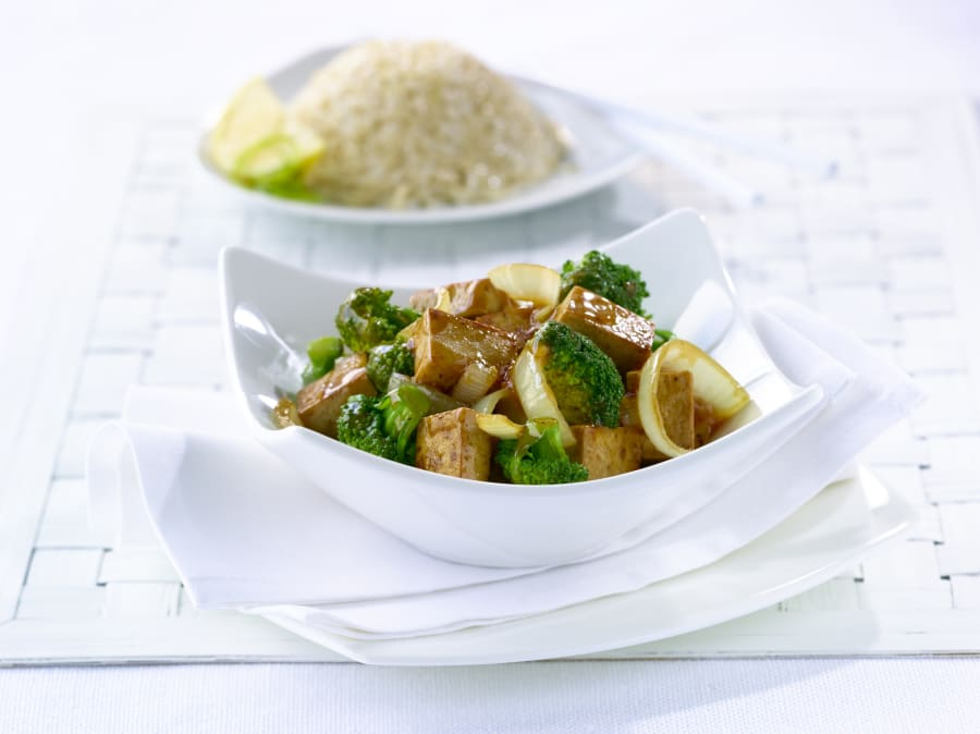 Fortified tofu is a great vegetarian source of