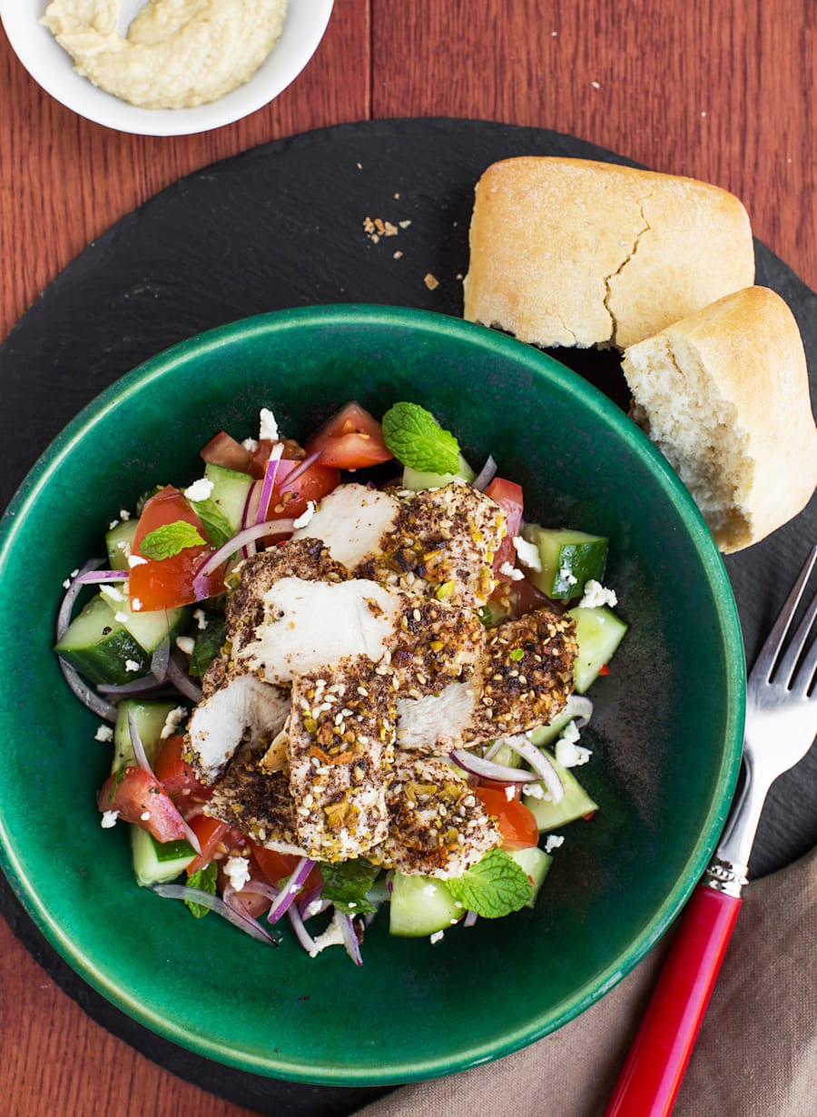 Simply assemble this delicious salad in a tupperware container and bring to work the next
