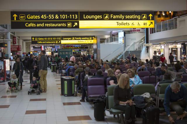 Departure lounge, Gatwick airport, UK