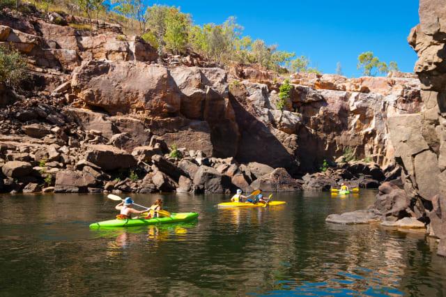 Canoeists in Katherine Gorge Australia