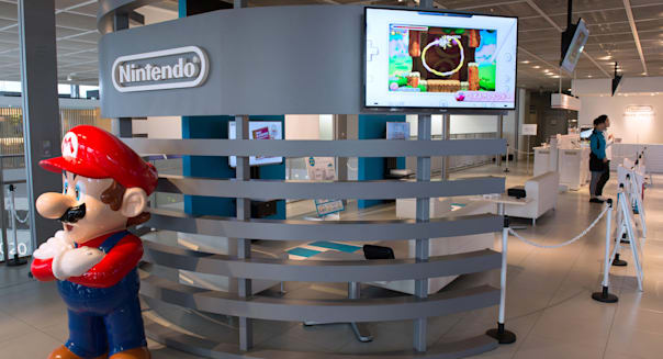Product Displays Inside The Nintendo Game Front Showroom