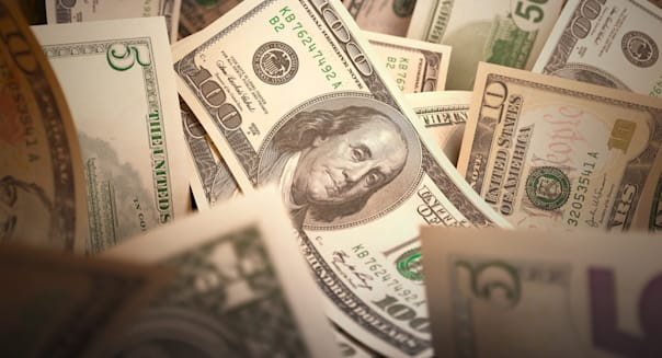 Dollar bills, artwork