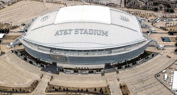 AT&T Stadium the home of the Dallas Cowboys in Arlington Texas USA