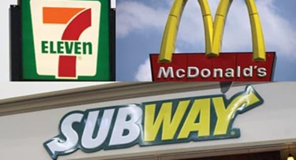 McDonald's, Subway, 7-11, three-way split