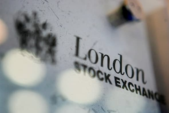(FILES): This March 17, 2006 file photo shows the London Stock Exchange logo in London, England.  Merger mania gripped financial markets Wednesday, February 9, 2011 as the London and Toronto stock exchanges announced a tie-up and Deutsche Boerse and NYSE Euronext envisioned the world's largest bourse.   AFP PHOTO / Files / Ben STANSALL (Photo credit should read BEN STANSALL/AFP/Getty Images)