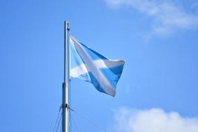 nautical Andrew flag. Flag of Scotland