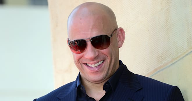 Vin Diesel at His Star Ceremony on the Hollywood Walk of Fame on August 26, 2013