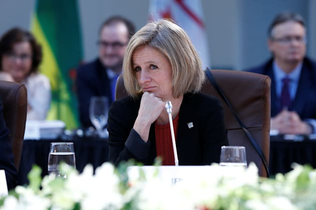 Alberta Premier Rachel Notley takes part in the First Ministers meeting in Ottawa, Ont., Dec. 9,
