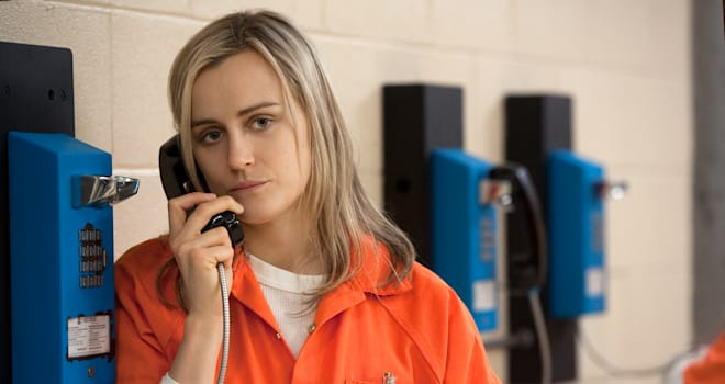 Taylor Schilling in a scene from Netflix�s �Orange is the New Black� Season 2. Photo credit: JoJo Whilden for Netflix