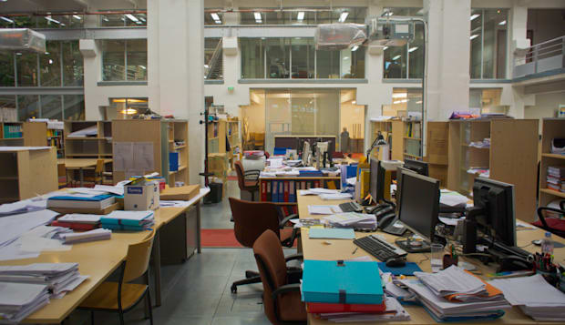 Paris, France, Open Office Interior, Converted Au-to Factory in Chinatown