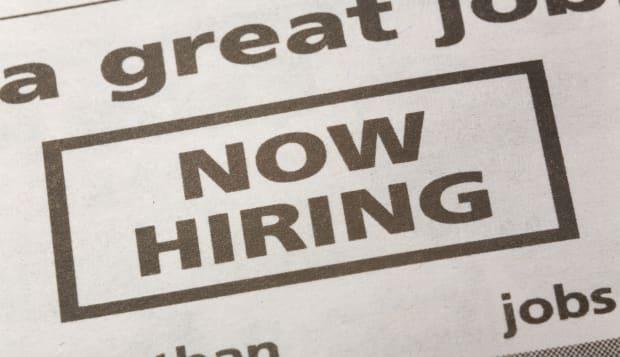 BM8941 newspaper employment ad, Now Hiring, Employment concept  Now; Hiring; Newspaper; Occupation; career; Job; Now; Hiring; Ne