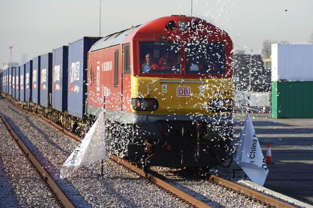BRITAIN-CHINA-ECONOMY-FREIGHT-TRAIN