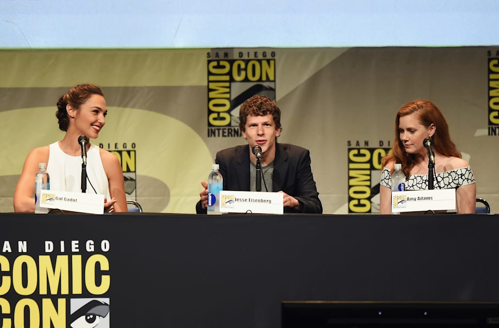 Gal Gadot, Jesse Eisenberg and Amy Adams at Comic-Con 2015
