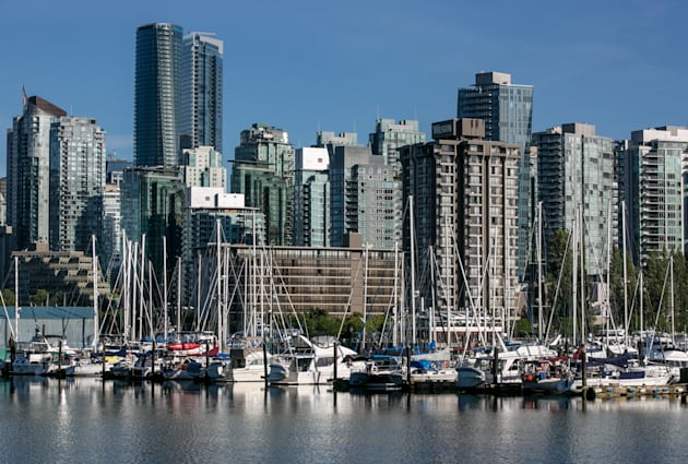 Vancouver's Coal Harbour, seen from Stanley Park, June 30. The city's housing recovery appears to be...