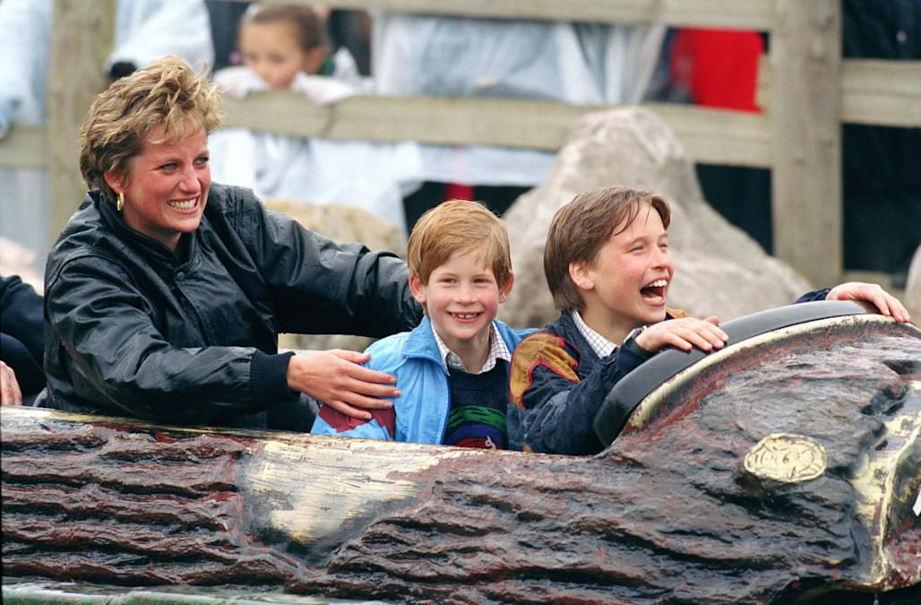 Diana, William & Harry At Thorpe Park