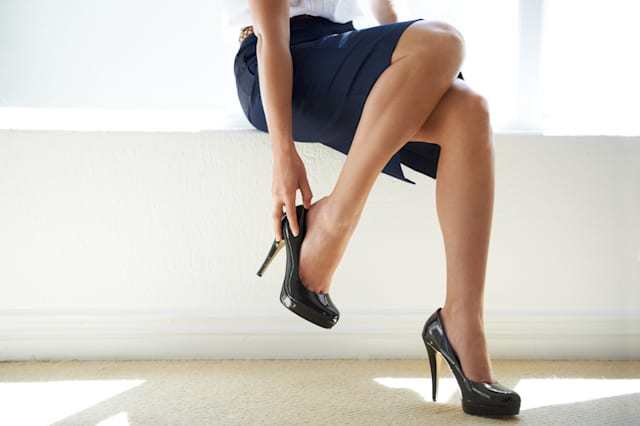 High heels and dress codes