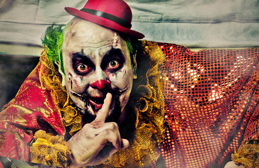It's not unusual for kids to imagine there's a creepy clown hiding under the bed...watching and waiting....