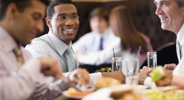 Businessmen Eating Lunch