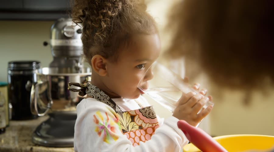 Drinking all liquids before the evening can help with bed-wetting in kids, or if adults don't want to...
