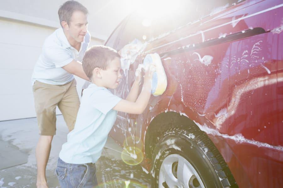 As a mild abrasive, bi-carb can help polish car