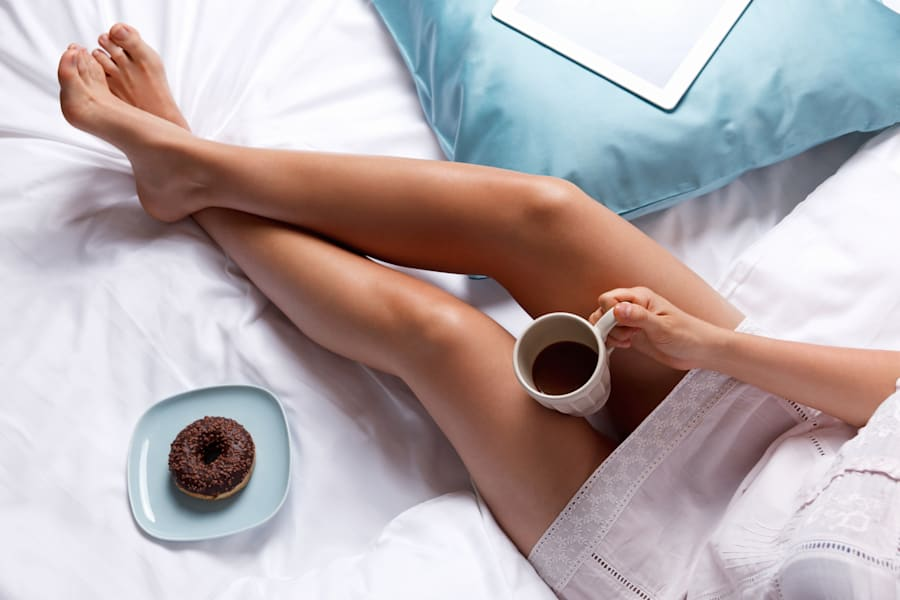 Keep it simple: get a good sleep, have a coffee and maybe a little