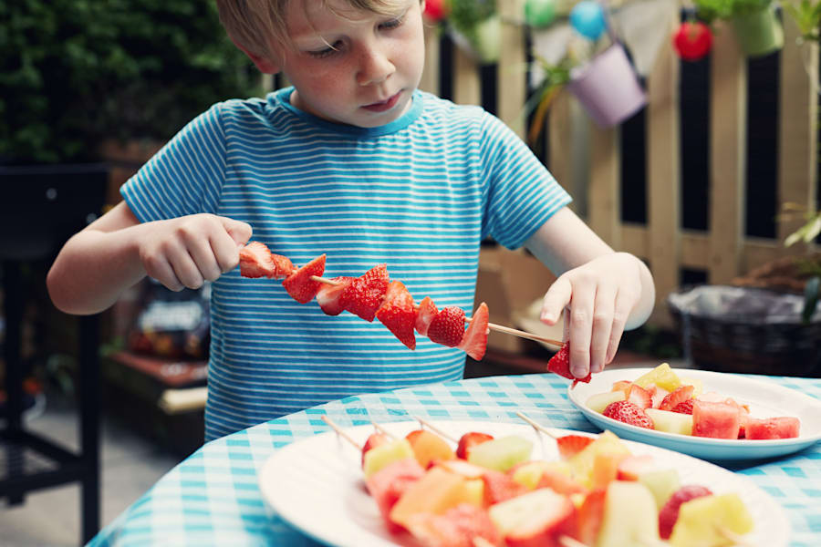Fruit kebabs are a relatively safe (and healthy!) food