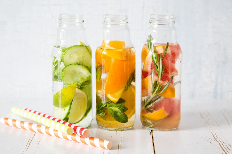 Bored of plain water? Spruce it up with fruit and