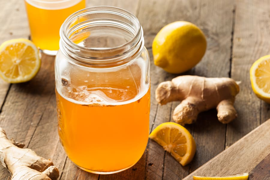 You can flavour your kombucha with your favourite ingredients. Ginger and lemon is a classic