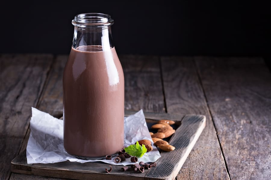 Flavoured non-dairy milks, such as chocolate and coffee, are becoming more