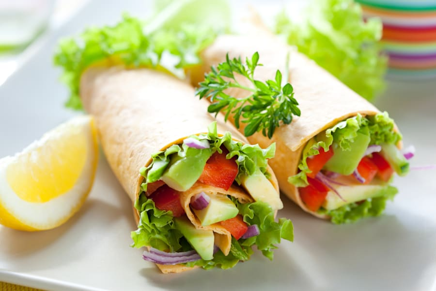 Fill your whole grain wraps with lots of