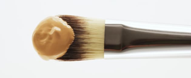Apply liquid foundation with a brush, or just use your