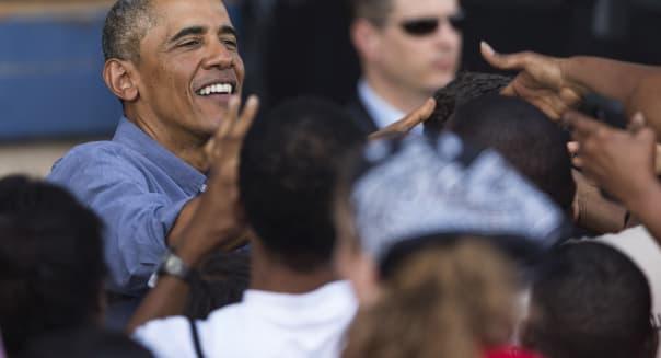 President Obama Speaks At Labor Day Festival In Milwaukee