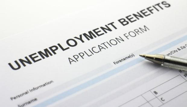 Blank Unemployment Benefits form