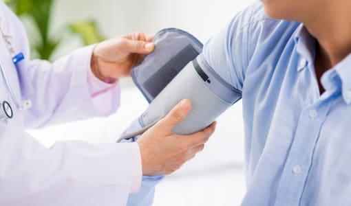 Applying blood pressure cuff