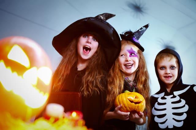 Cheery Halloween children