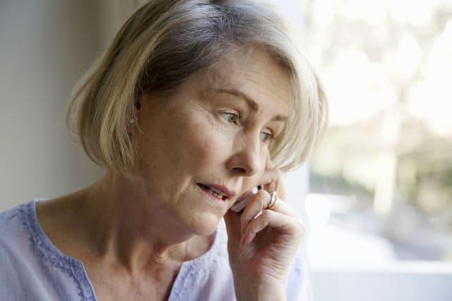 Senior woman talking on cell phone