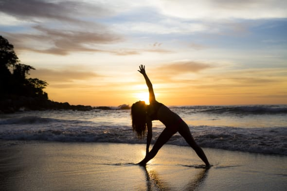 Try yoga on the beach for a super relaxing