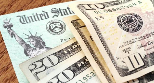 USA Treasury social security check