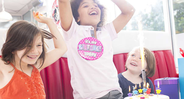 children's birthday party in diner
