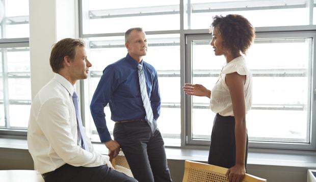 Corporate business people having casual meeting