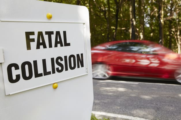 Fatal accident sign