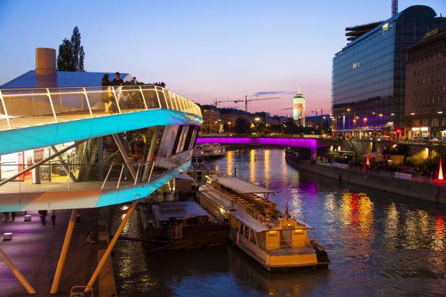 Austria, Vienna, Danube canal