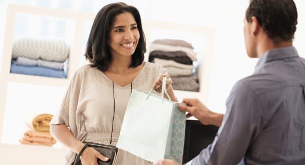Hispanic customer shopping in store