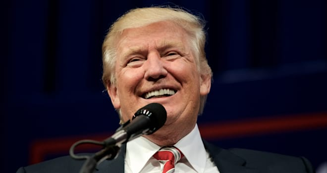 Aston, PA, USA - September 22, 2016: Republican presidential nominee Donald Trump delivers a speech at a rally in Aston, Pennsyl