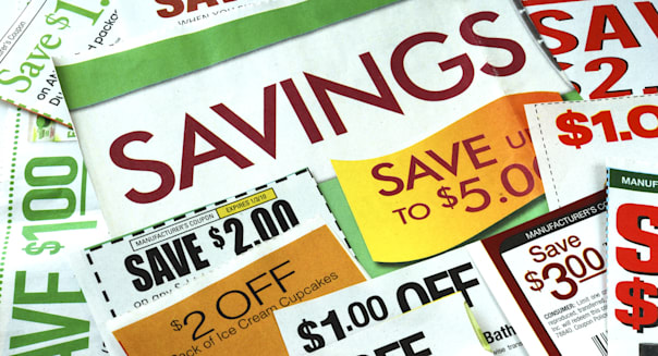 cut up some coupons to save...