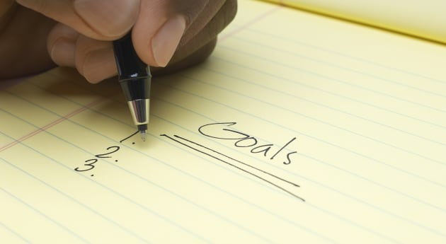 Write your goals down and place the list in a spot you'll see it, such as the fridge or your bedside