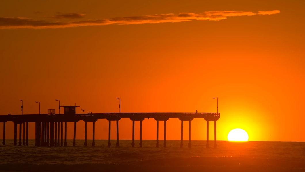 Ocean Beach Pier sunset, Ocean Beach, California