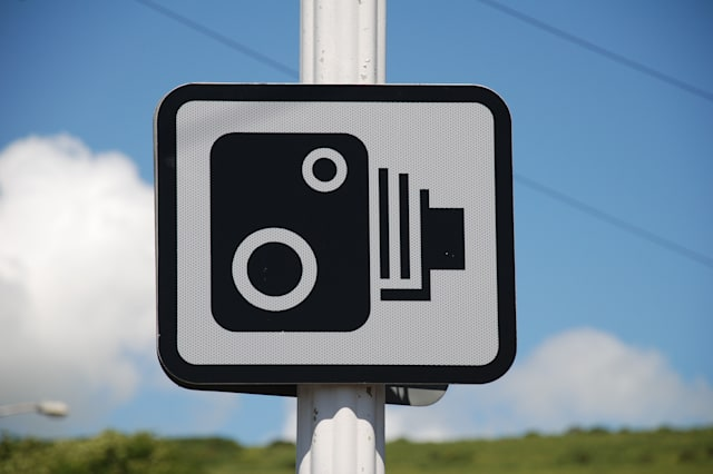 speed camera sign in folkestone ...