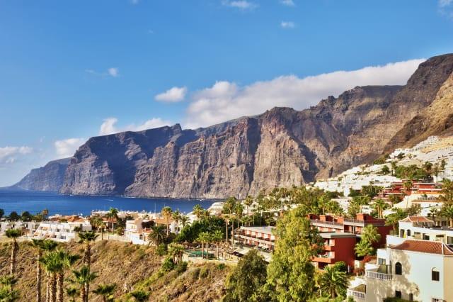 Panoramic daytime view of Los Gigantes, Tenerife