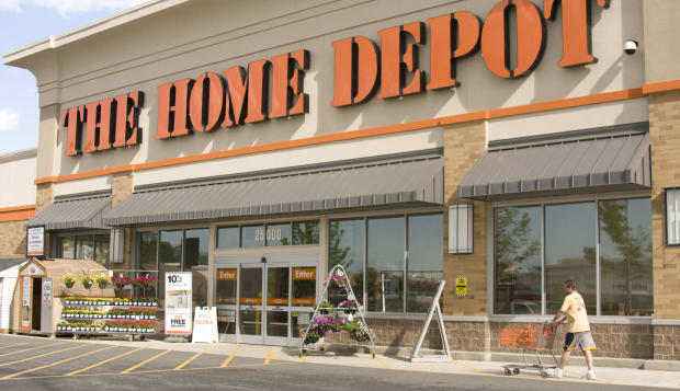 The Home Depot store exterior outside building